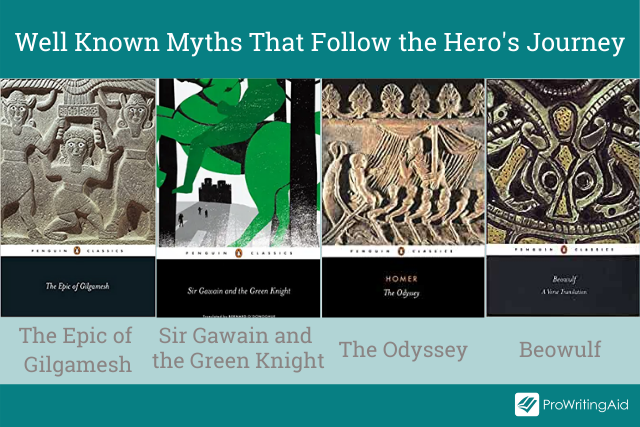 Well know myths that use the hero's journey