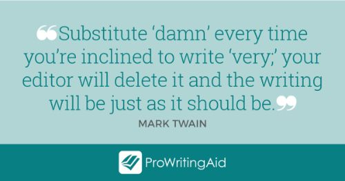 Mark Twain quote about adverbs