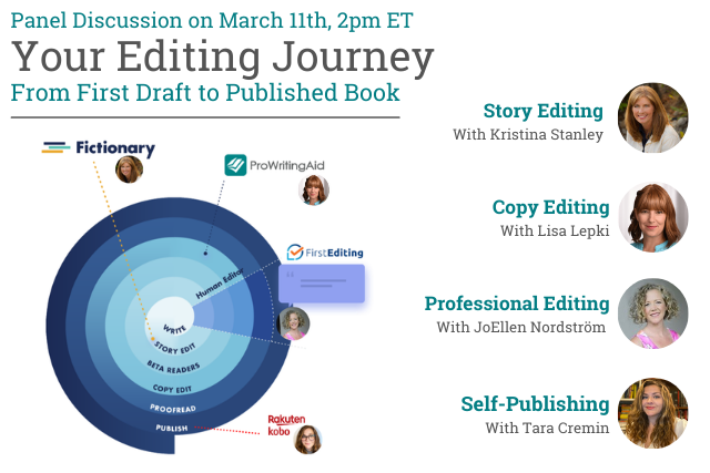 cover reading: Your Editing Journey: From First Draft to Published Author