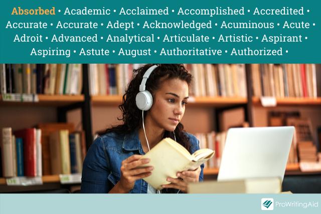 academic adjectives list