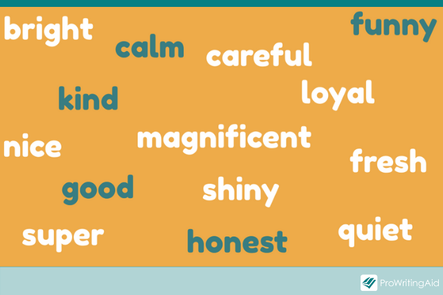 examples of positive adjectives in a word cloud