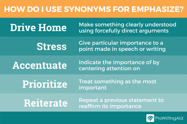 5 alternatives to emphasize