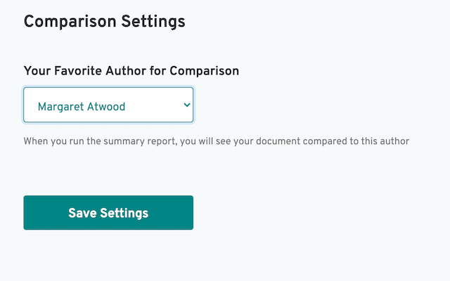 author comparison setting