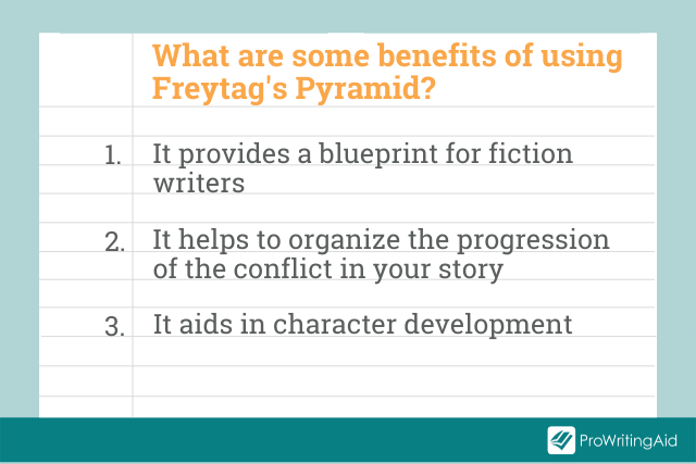 Image showing the benefits of using Freytag's Pyramid