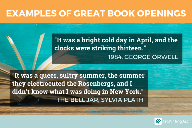 Great book opening examples