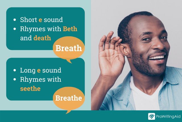 how to pronounce breath and breathe