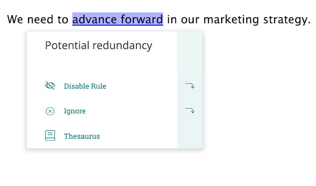 remove redundancies in business writing