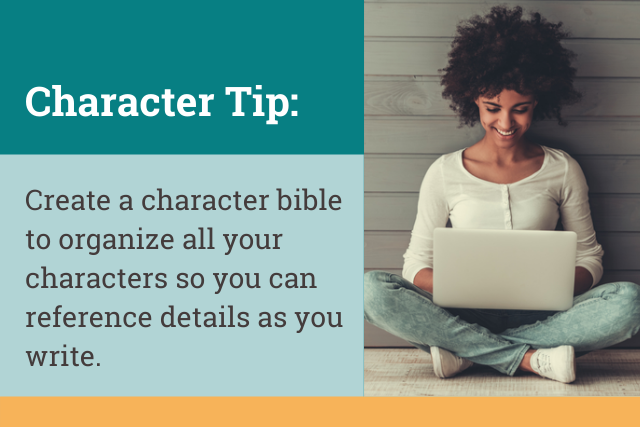 create a character bible for crime writing