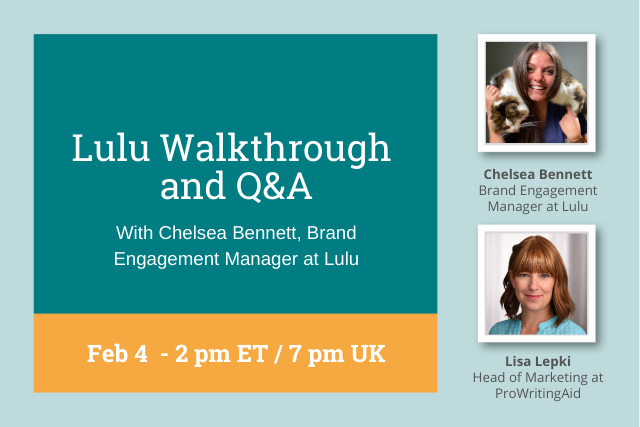 Webinar Replay: How to Self-Publish With Lulu, a Walkthrough and Q&A