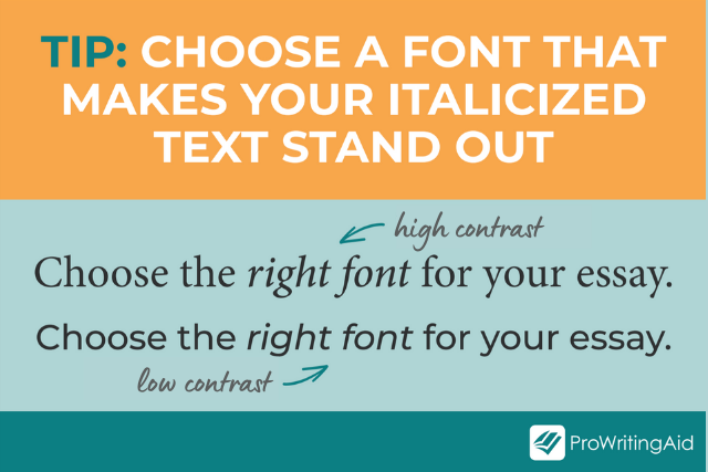 font comparison to show easier and more difficult-to-read fonts