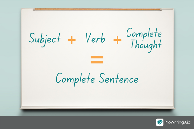 The 3 components of a complete sentence