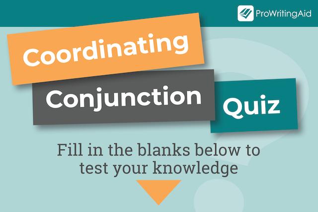 coordinating conjunction quiz header