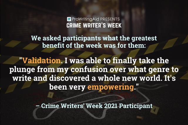 crime week feedback quote