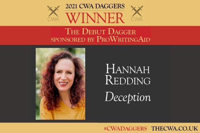 winner of the Debut Dagger Award, Hannah Redding