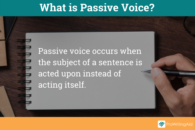 Image showing the definition of passive voice