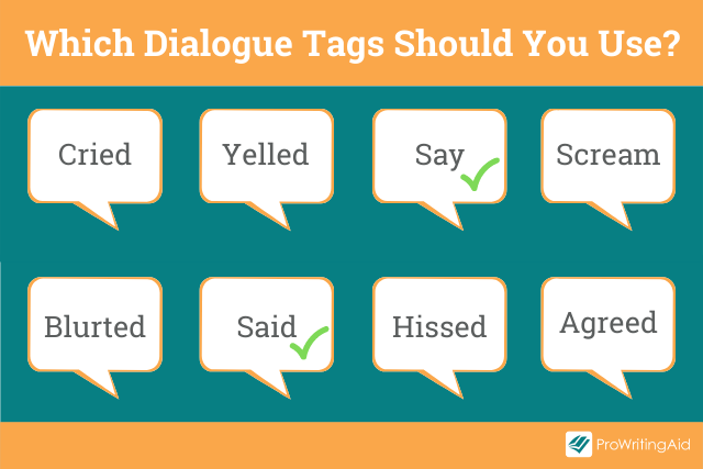 Examples of good and bad dialogue tags