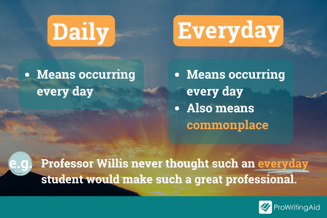 daily vs everyday: uses and example