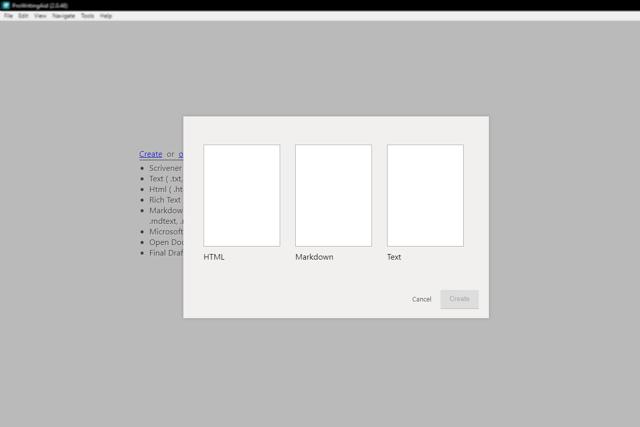 How to create a document in ProWritingAid desktop app