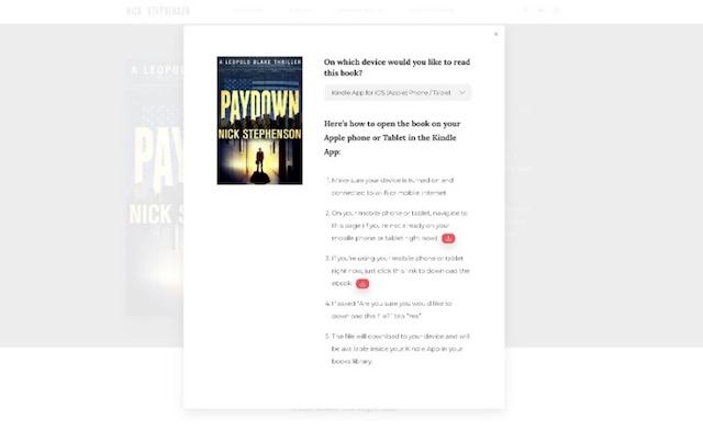 ebook download screen