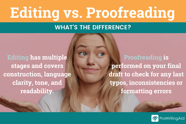 editing vs. proofreading definitions