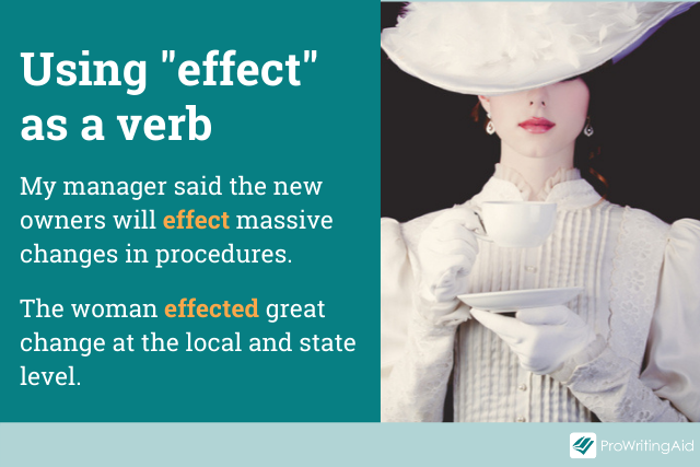 examples of effect as a verb in sentences