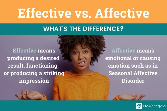 effective vs affective, definition graphic