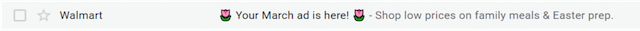 example of a subject line following best practices