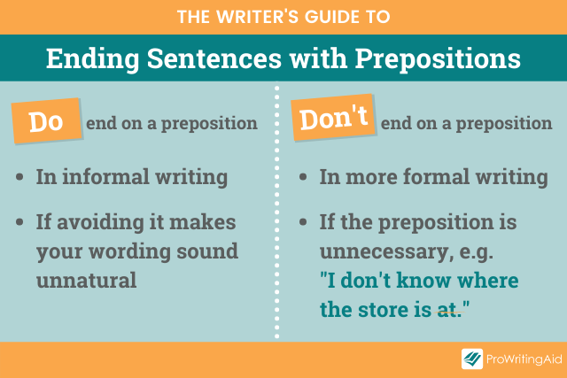 when to end a sentence with a preposition
