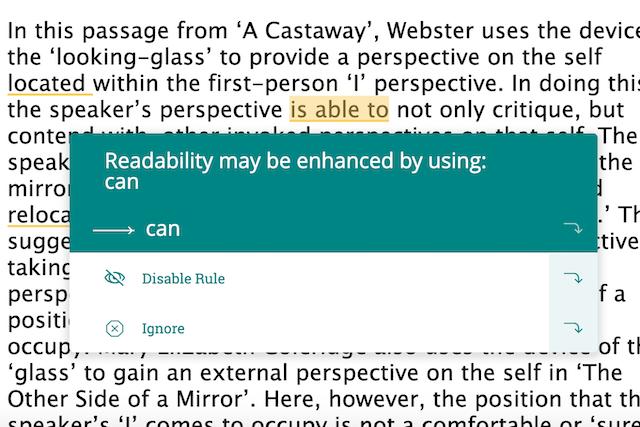readability enhancement in ProWritingAid