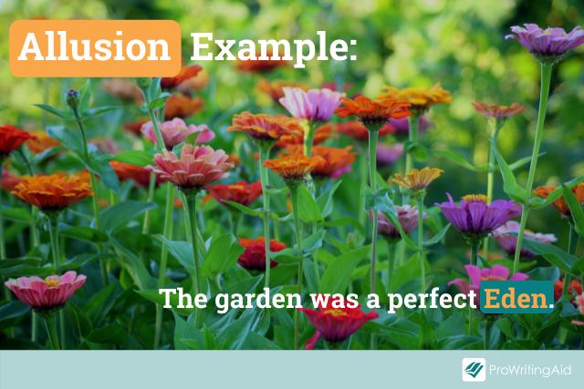 example of allusion to the Bible: garden of Eden