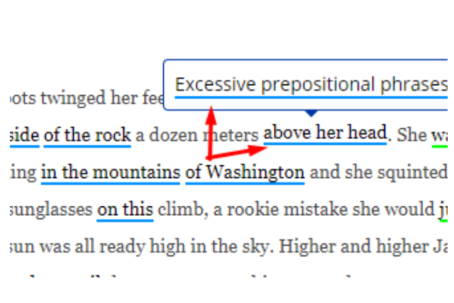 How to fix excessive prepositional phrases