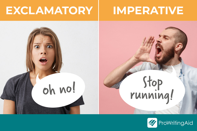 Image showing imperative versus exclamatory sentences
