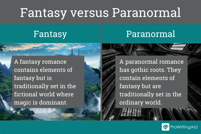 The difference between fantasy and paranormal fiction