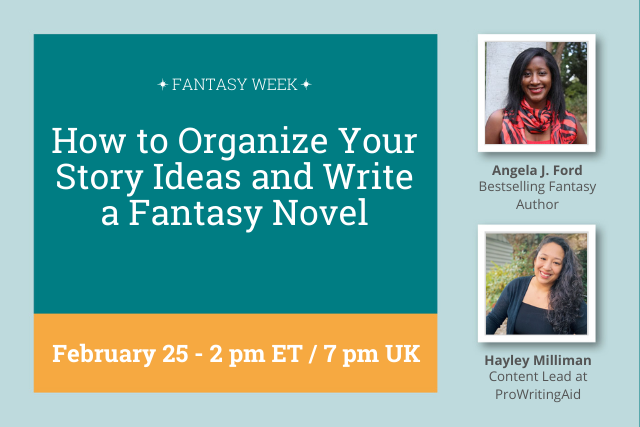 Webinar: Organize Your Story Ideas and Write a Fantasy Novel