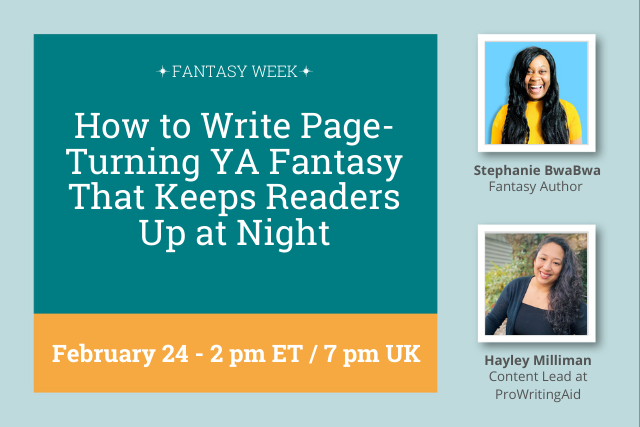 Webinar: How to Write Page-Turning YA Fantasy That Keeps Readers Up at Night