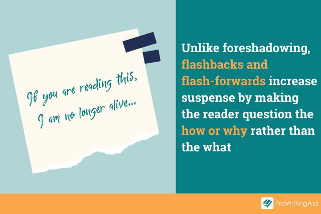 foreshadowing vs. flashback