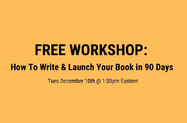 Free Live Workshop with Chandler Bolt of Self-Publishing School