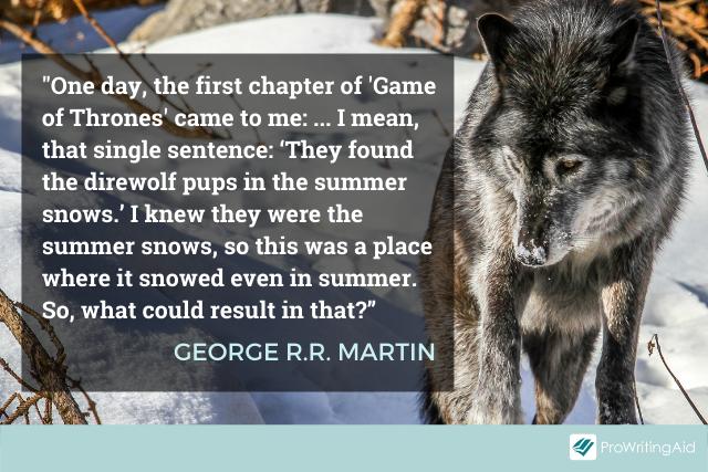 George R.R. Martin on the writing process