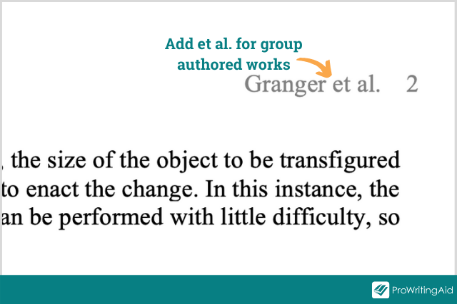 example of a heading for a larger group project