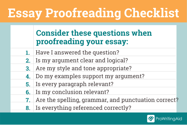 Image showing steps in proofreading essay