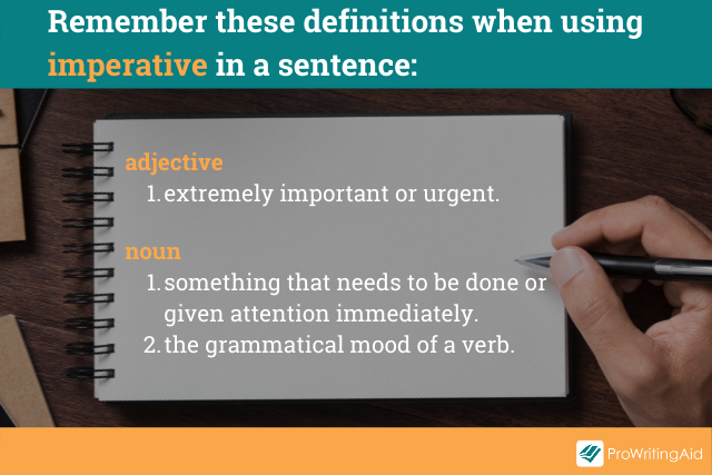 Image showing the definitions of imperative