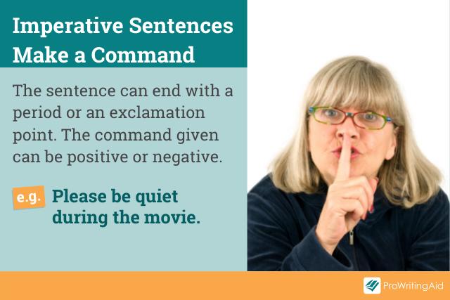 Image showing imperative sentences as commands