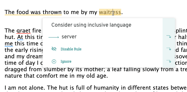 Inclusive language at ProWritingAid