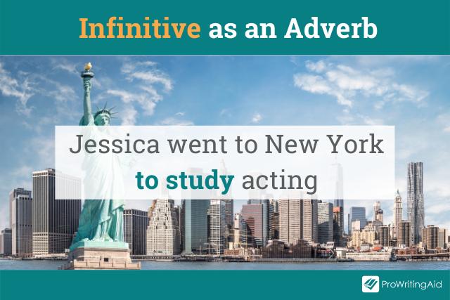 using an infinitive as an adverb