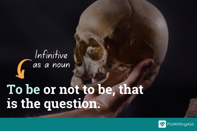 using an infinitive as a noun