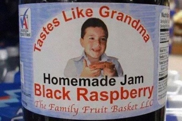 typo on a jam label