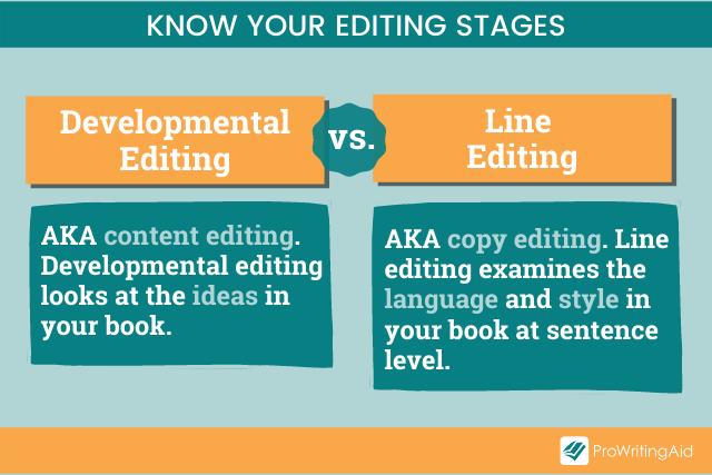Line Edits vs. Developmental Edits