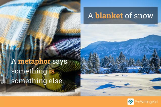 metaphor example: blanket of snow
