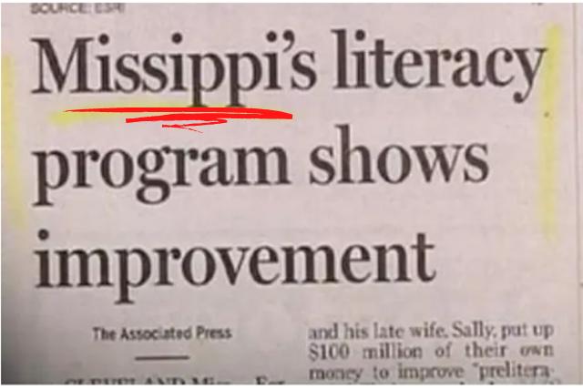 Newspaper article with misspelt Mississip