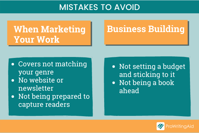 Image showing mistakes to avoid when building your business and marketing your work